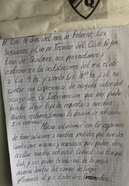 A poco del inicio del torneo, los jugadores presentaron una carta de protesta