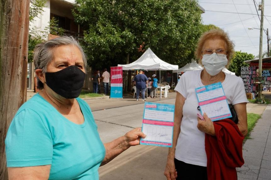 Avanza en Berazategui la vacunación contra el COVID-19 a mayores de 70 años