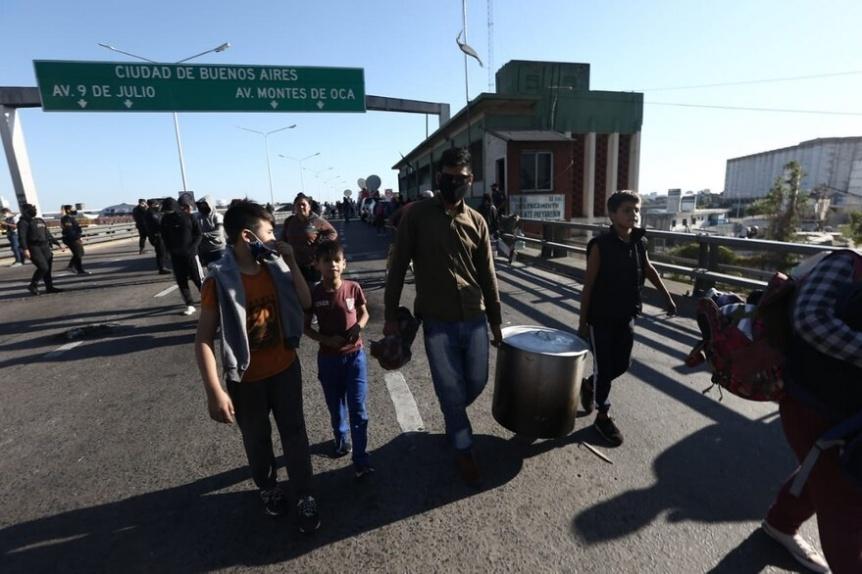 Se levant� el corte total de organizaciones sociales en Puente Pueyrred�n