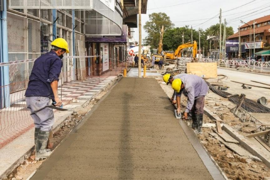 Avanza la obra de refacción integral del ingreso a Villa La Florida por la avenida 844