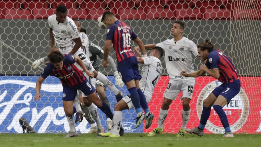 San Lorenzo, de buen partido, empat� con Santos pero no le alcanz�