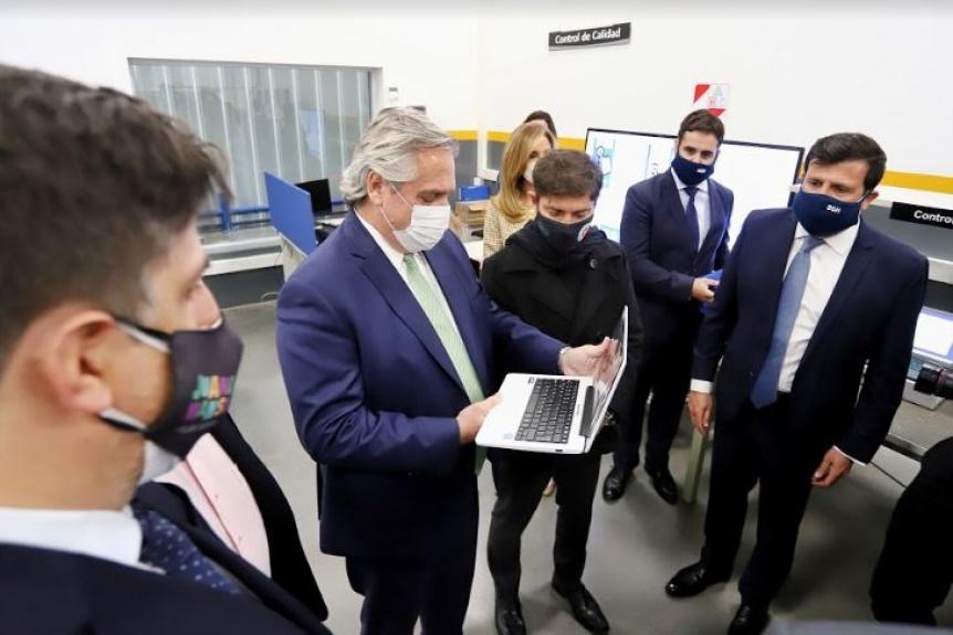 """Alberto Fernández y Kicillof lanzaron el Plan Federal de Conectividad """"Juana Manso"""""""