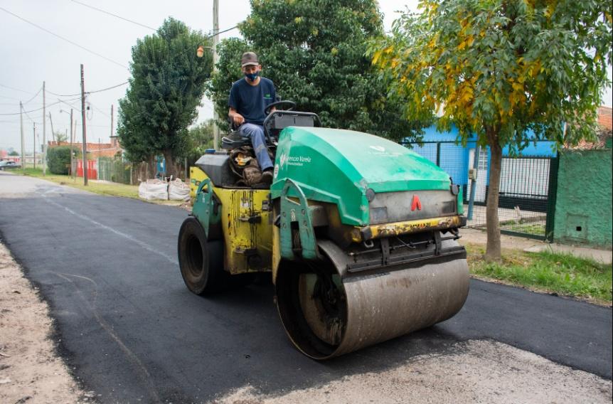 """Florencio Varela: """"Resta un día de trabajo para finalizar la obra en San Jorge"""""""