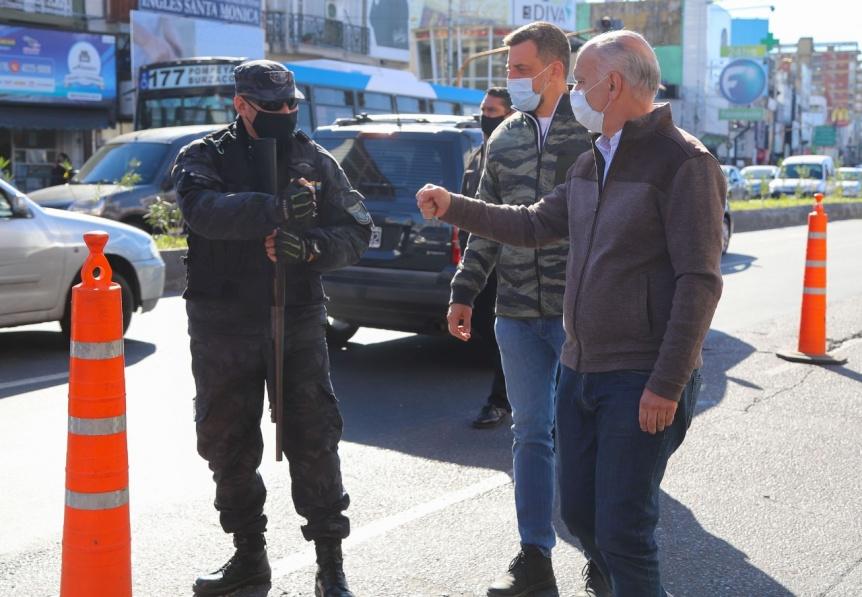 Seguridad: Grindetti encabez� un operativo del PRI en Lan�s Oeste