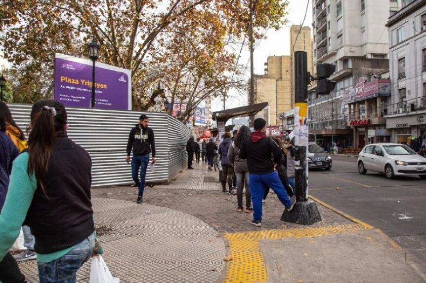 Avanzan las obras de puesta en valor de la Plaza de la Estación de Quilmes