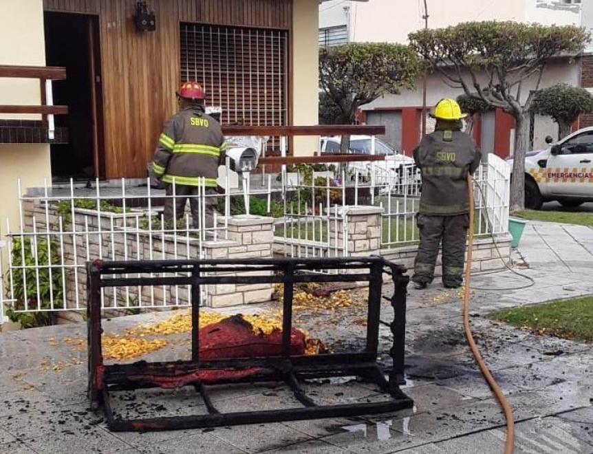 Incendio parcial en una vivienda de Quilmes Oeste