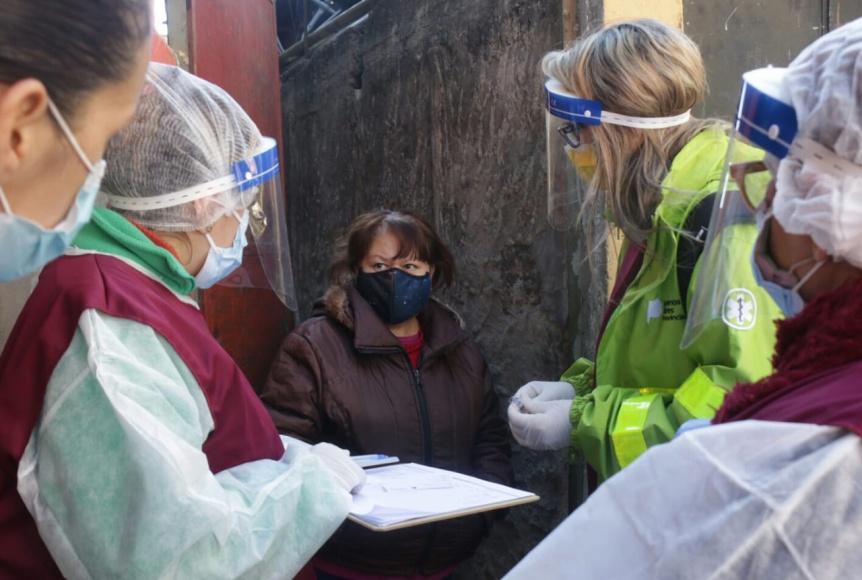 El área de Salud de Lanús lleva los operativos a diferentes barrios