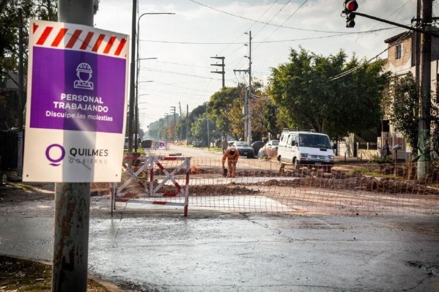 Avanzan las obras para los accesos seguros al Hospital Modular de Bernal Oeste