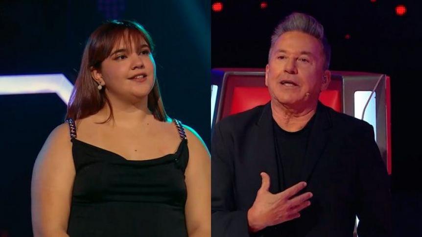 La quilme�a Agustina Abreg� qued� en el programa La Voz Argentina apadrinada por Montaner