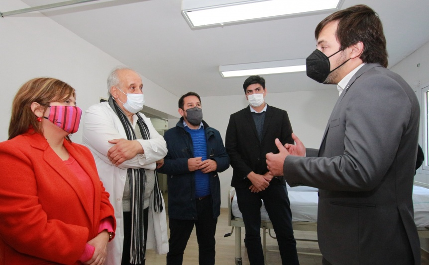 Nicol�s Kreplak estuvo en el Hospital de Quilmes y anunci� la reanudaci�n de obras