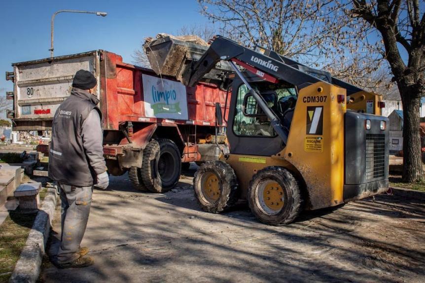 El Municipio de Quilmes avanza con la puesta en valor del Cementerio