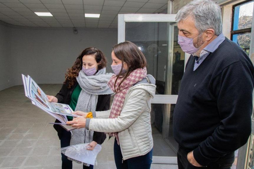 Se inauguró el nuevo espacio del Taller de Muralismo y el SUM en el Museo Roverano