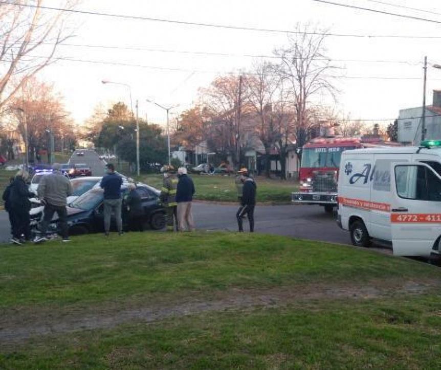 Choque en Quilmes Oeste con un politraumatizado