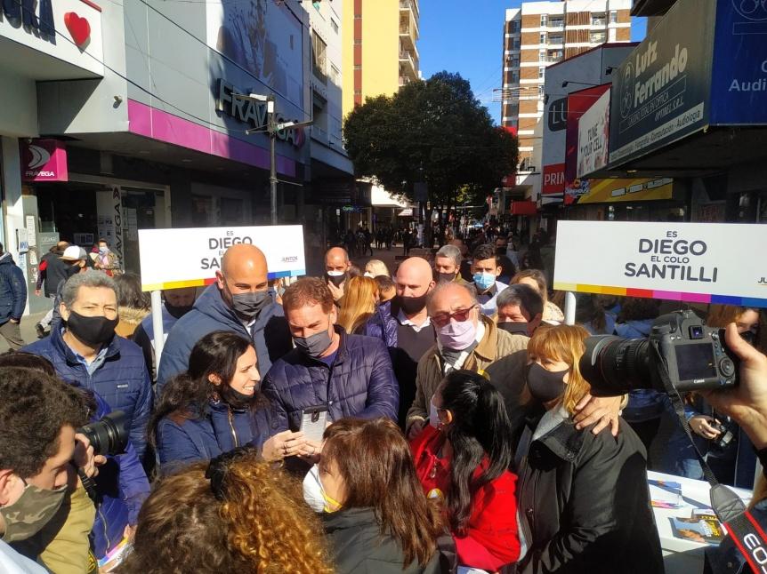 Juntos: Santilli, Ocaña y Martiniano Molina visitan Quilmes