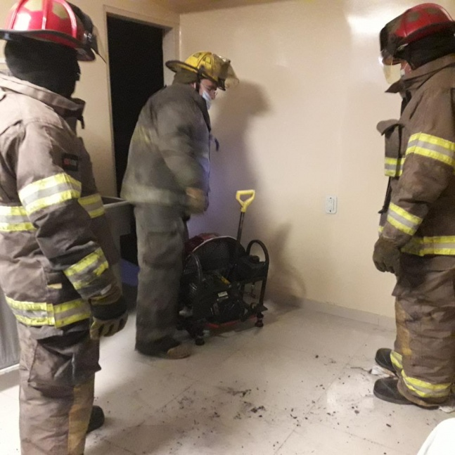 Principio de incendio en el Sanatorio Urquiza
