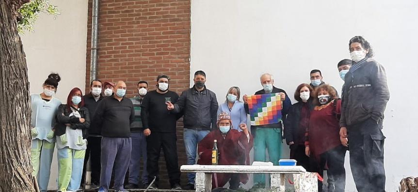 ATE Quilmes realiz� un homenaje a la Pachamama en el Hospital Isidoro Iriarte