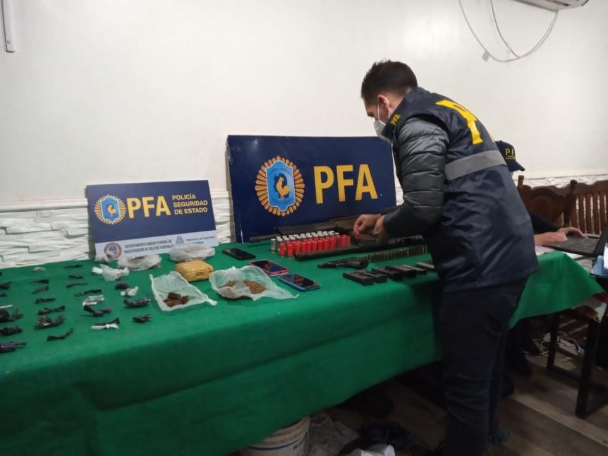 La Polic�a Federal Argentina desbarat� una organizaci�n armada dedicada al narcomenudeo