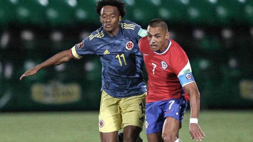 Colombia super� a Chile y qued� expectante en la tabla