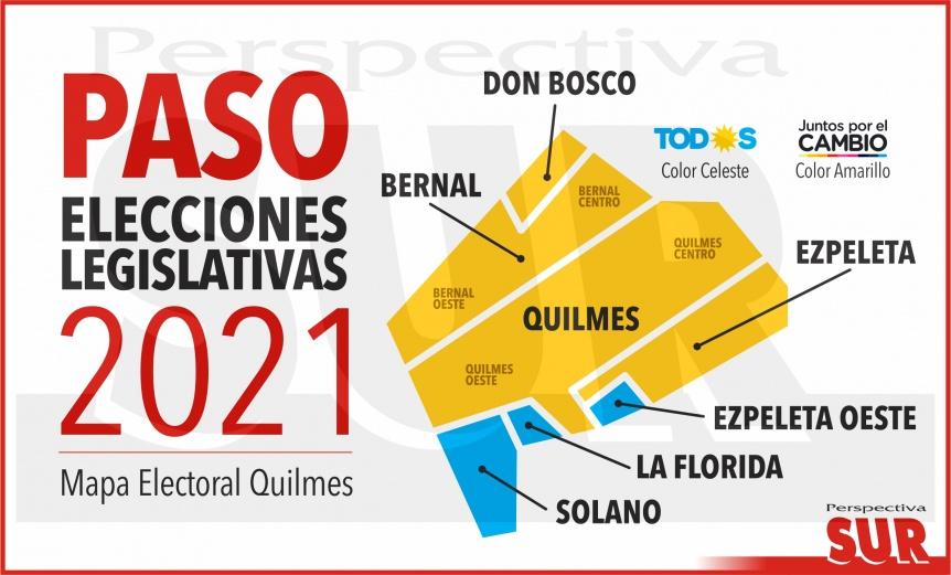 Quilmes: Mirá cómo votó tu barrio y quién ganó las PASO zona por zona