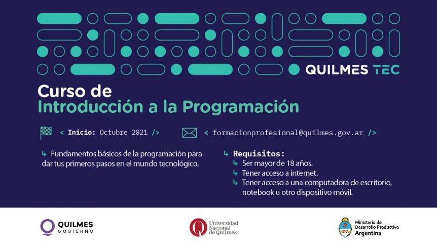 QuilmesTec: Está abierta la inscripción para el curso de introducción a la programación