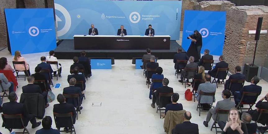 El presidente presenta el proyecto de Ley de Promoción de Inversiones Hidrocarburíferas
