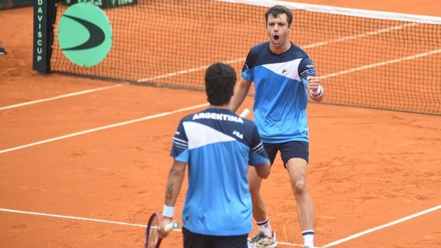 Argentina la gan� el dobles a Bielorrusia y tom� ventaja en la serie