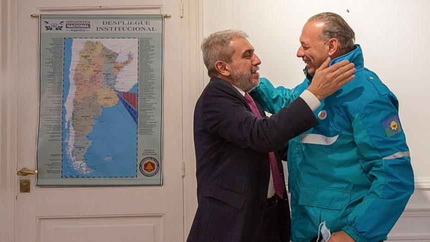 An�bal Fern�ndez se reuni� con Berni y D�Alessandro para coordinar la seguridad en el AMBA