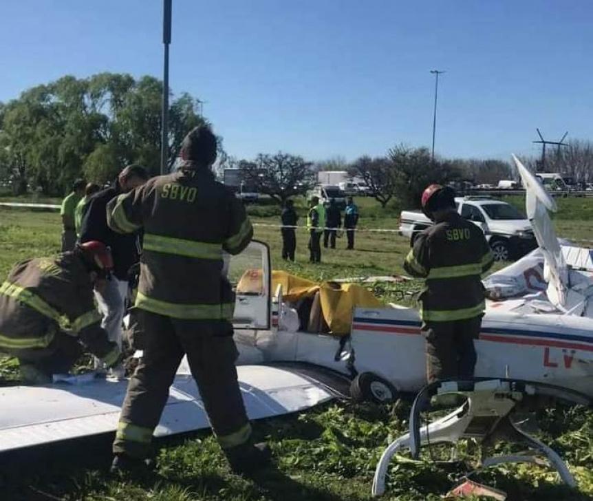 Cay� una avioneta en Ezpeleta: Fallecieron sus dos ocupantes