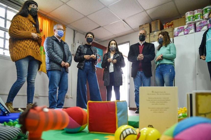 Inauguraron una zona de crianza comunitaria en el CIC del Barrio Iapi