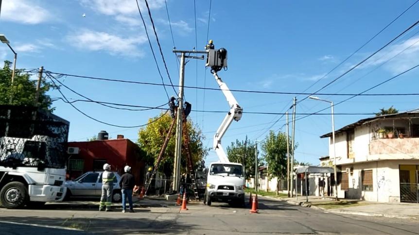 Edesur realiz� nuevas conexiones domiciliarias y obras en Avellaneda