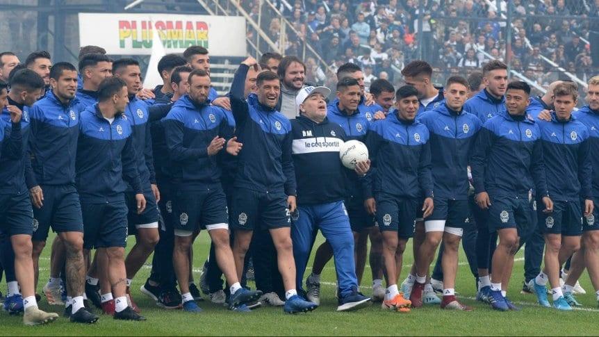 Diego Maradona, en su presentaci�n: