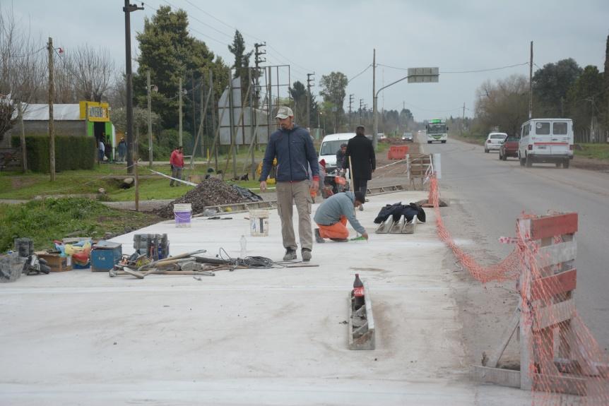 Construyen dársena de giro en la Ruta 53 en Florencio Varela