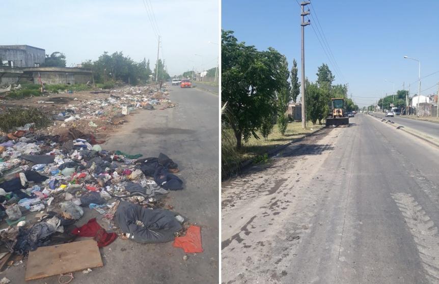 Quilmes Oeste: Levantaron el basural de Camino Belgrano y 812