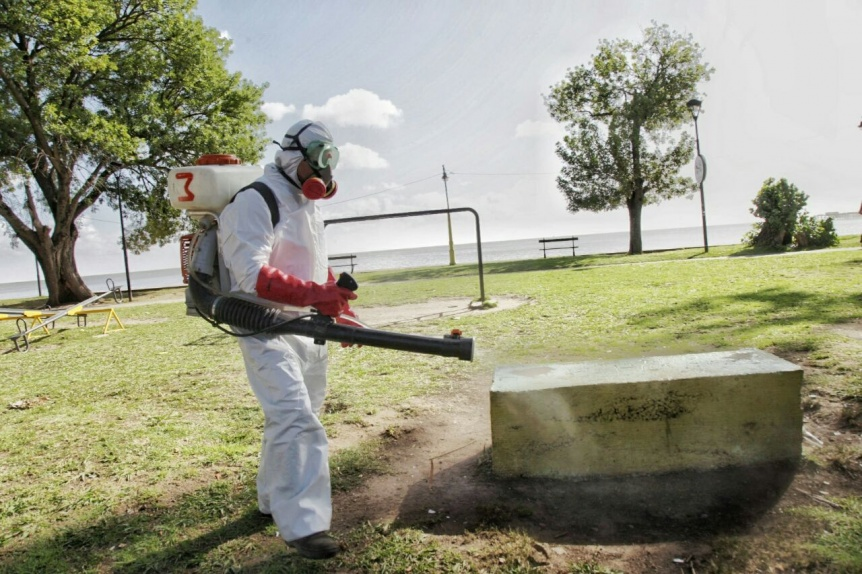 Jornada de fumigación, limpieza y descacharreo en prevención del dengue