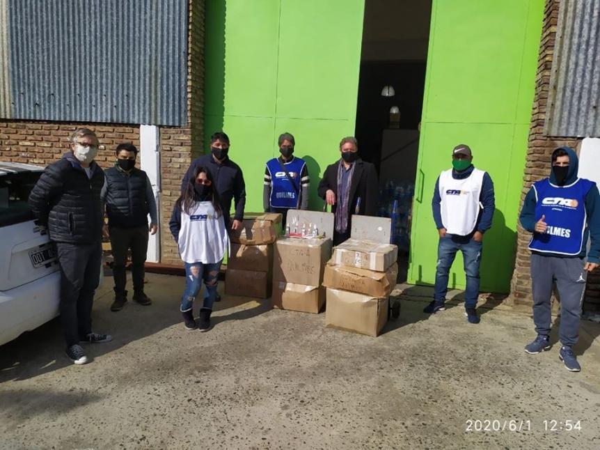 La CTA Aut�noma don� sanitizantes para distribuir en Itat� y Azul