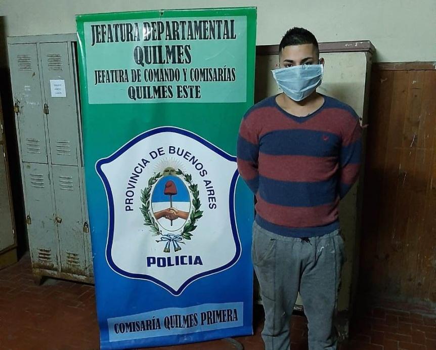 Quilmes: Atrapan a un joven acusado de cometer varios delitos
