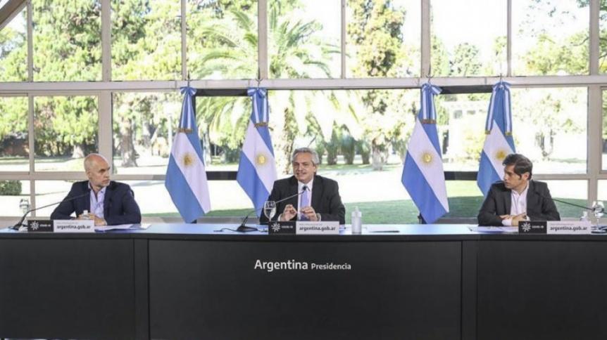 Video: Fern�ndez, Kicillof y Larreta anuncian la extensi�n de la cuarentena
