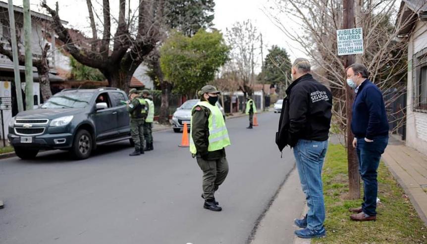 Berni y Cascallares recorrieron controles de gendarmer�a en Alte Brown