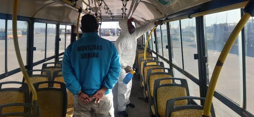 El Municipio varelense verifica la desinfección en el transporte público