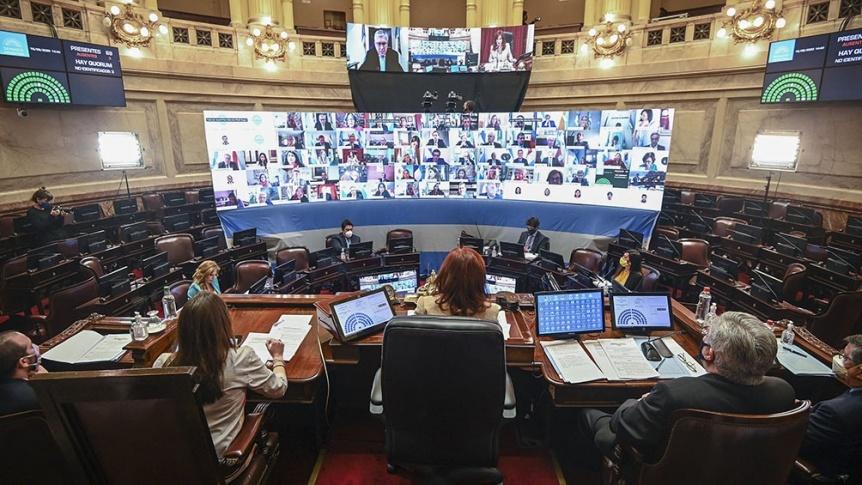 El oficialismo en el Senado aprobó la prórroga de las sesiones virtuales