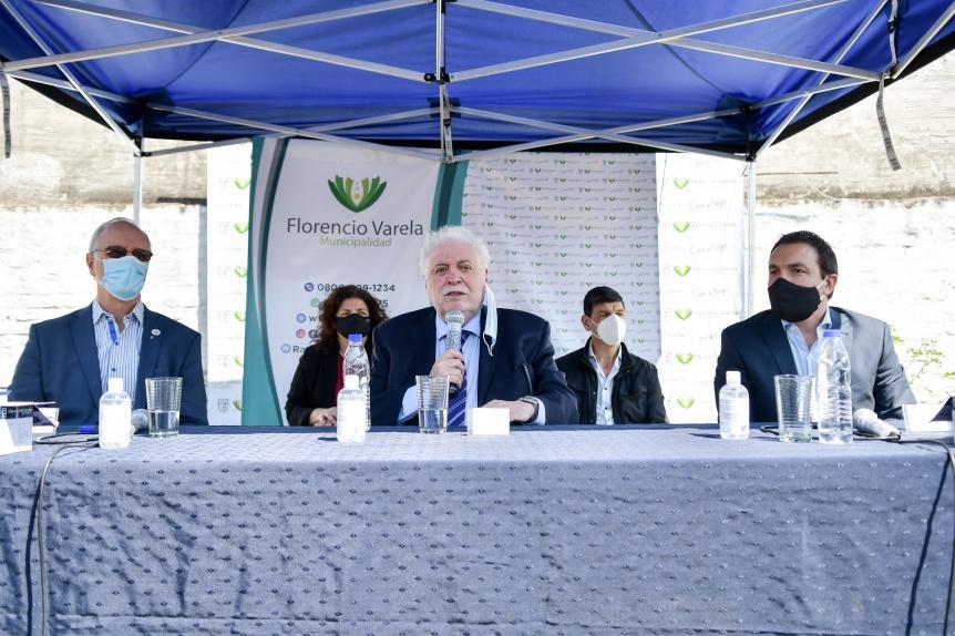 Gonz�lez Garc�a y Goll�n presentaron nuevos test r�pidos de COVID en Varela