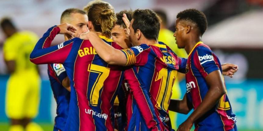 Barcelona goleó 4 - 0 a Villarreal con un gol de Lionel Messi