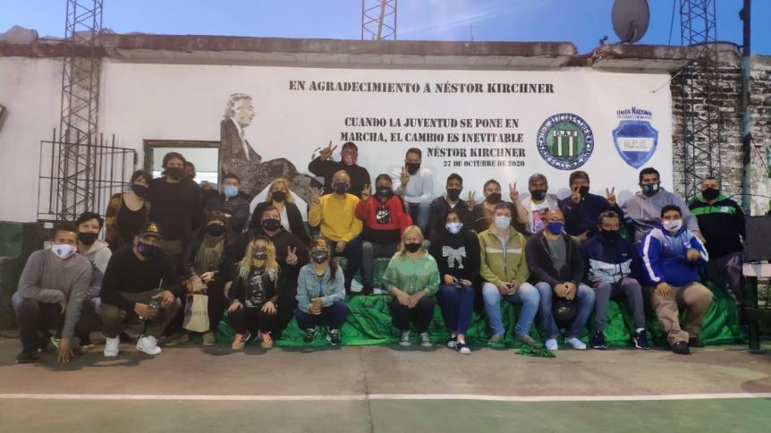 Quilmes: La Unión Nacional de Clubes de Barrio homenajeó a Néstor Kirchner