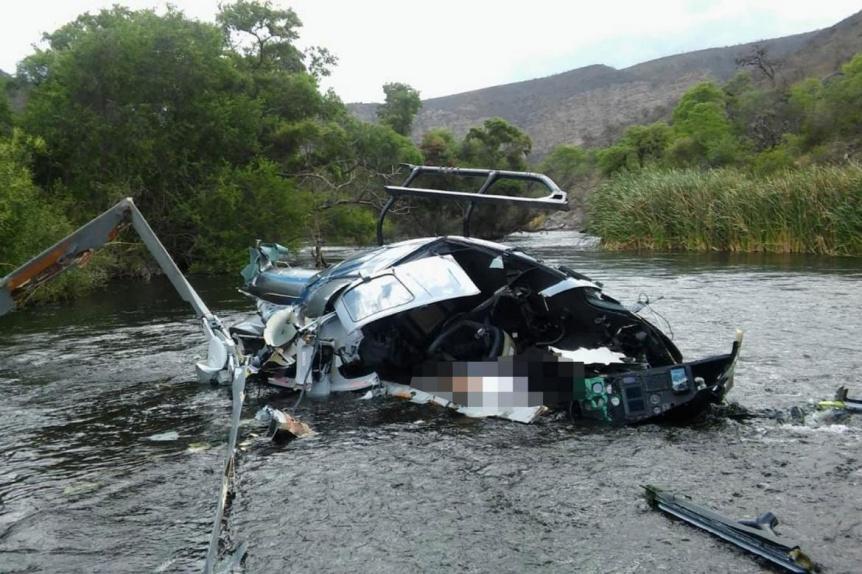 Realizan peritajes en el lugar de la caída del helicóptero que comandaba Jorge Brito