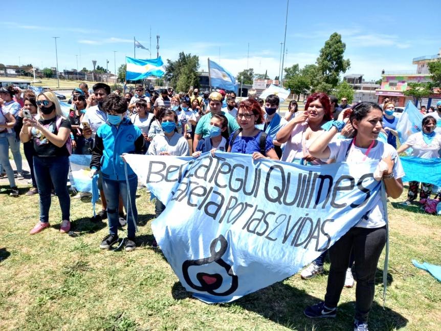 Partidarios de las Dos Vidas marcharon en Florencio Varela