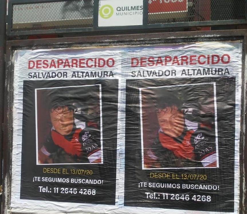 Empapelaron Quilmes con pedidos por la aparición de Salvador Altamura