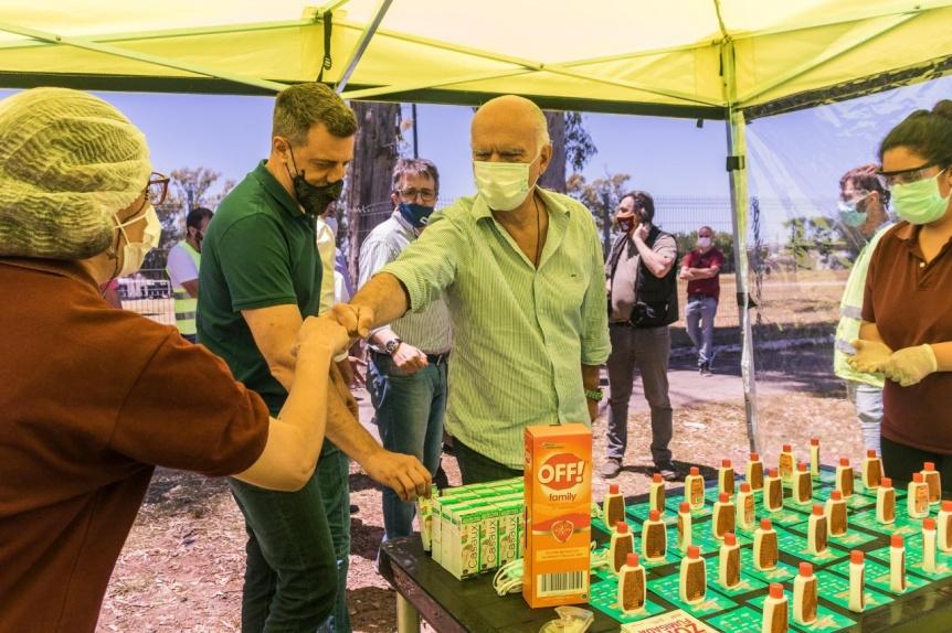 Grindetti visitó el operativo de salud, desarrollo social y espacio público en Monte Chingolo