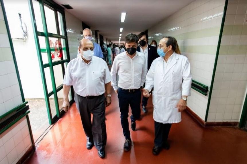 Kicillof visit� el operativo de vacunaci�n en el Hospital Evita Pueblo