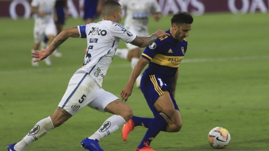Después del empate en la Bombonera, Boca busca eliminar a Santos en Brasil