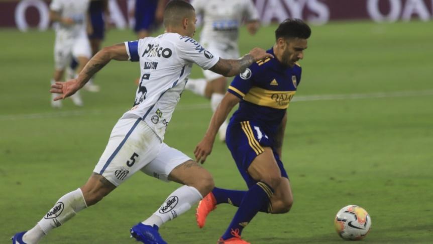 Boca se despidi� de su sue�o copero con una dura derrota ante Santos